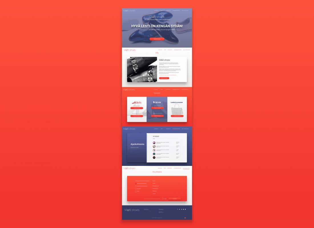 Branding and web design: M&B shoes